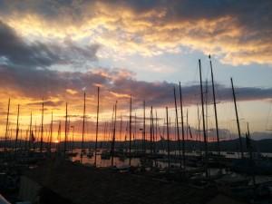 Port de St Tropez, Les Voiles vues du Carré Rollex