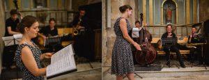 Le groupe accompagne une chanteuse lyrique / Cérémonie