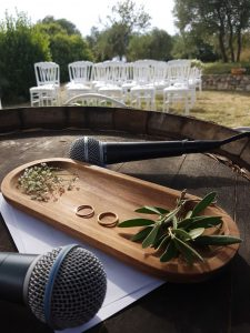Ceremonie de mariage en provence groupe jazz cocktail